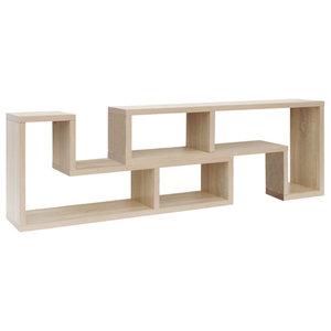 VidaXL TV Cabinet, Double L-Shaped, Oak, Oak