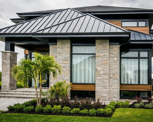 Modern House With Black Aluminium Windows