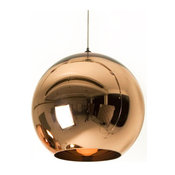 Mini Globe 1 Light, Metal Glass Electroplating Pendant Light, Chandeliers