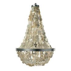 Capiz chandeliers houzz kouboo manor capiz chandelier champagne chandeliers aloadofball Choice Image