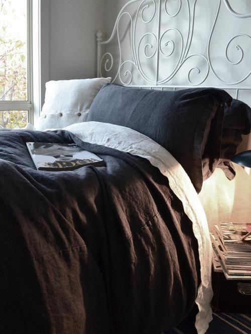 Dark Grey Heavy Weight Stonewashed Linen Bedding