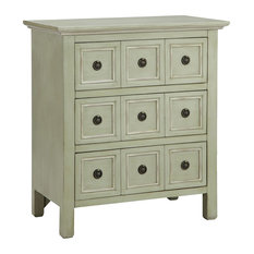 Stein World Chesapeake Accent Chest, Cadet Gray, Cream 28284