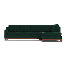 Brentwood 2-Piece Sectional Sofa, Evergreen Velvet, Chaise on Right