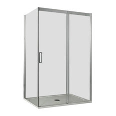 Dream Sliding Door Clear Glass Shower Enclosure, Right-Opening, 80x120 cm