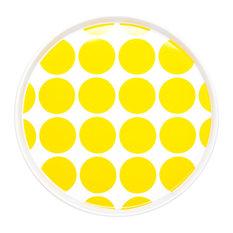 Dido Spotty Plates, Yellow, Set of 2