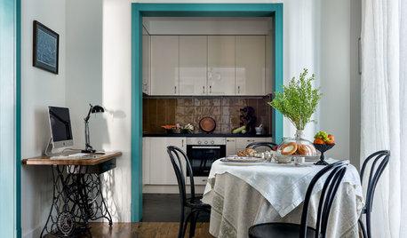 Houzz тур: Квартира с цветными дверями в Одинцове