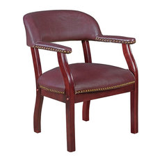 Regency   Ivy League Captain Chair, Burgundy   Armchairs And Accent Chairs
