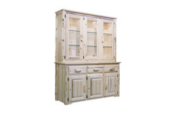 Montana Collection China Hutch, Clear Lacquer Finish
