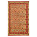 Unique Loom - Unique Loom Carnation Edinburgh Area Rug, Red, 5'x8' - The classic look of the Edinburgh Collection is sure to lend a dignified atmosphere to your home. With an array of colors and patterns to choose from, there�s a rug to suit almost any taste in this collection. This Edinburgh rug will tie your home�s decor together with class and amazing style.