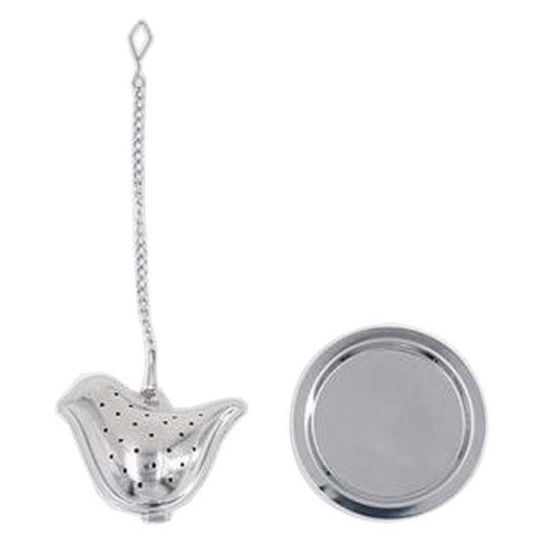 [Silver Bird] Creative Spice/Tea Ball Strainer Tea Filter With Drip Trays