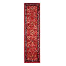 "Safavieh Vintage Hamadan Rug, Orange/Navy, 2'2""x8'"
