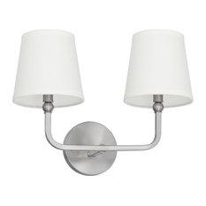 Dawson 2-Light Vanity, Brushed Nickel