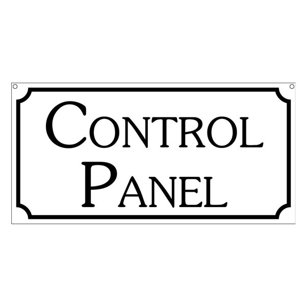Control Panel, Aluminum Boardwalk Carnival Fair Ride Sign, 6