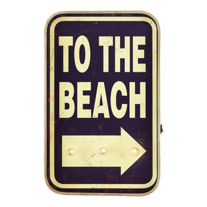 "Vintage ""To the Beach"" LED Sign"
