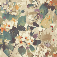 Chambon Multicolor and Metallic Gold Floral Wallpaper