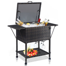 Tropical Outdoor Serving Carts by Goplus Corp