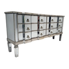 Rustic Mirrored Long Chest