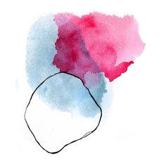 """Pantone Serenity"", Abstract Watercolor Print Set, Pink and Blue,11""x14"""