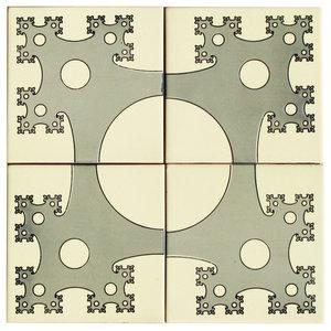 Fractal Ceramic Tile Mural, 4 Tiles