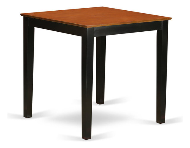 Table Height 36: Gerald Counter-Height Dining Table, Black And Cherry, 36