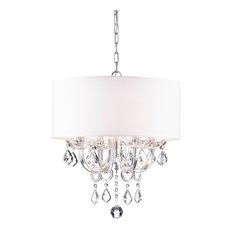 Anona 4-Light White Drum Chandelier