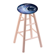Maple Bar Stool Natural Finish With Penn State Seat 30-inch