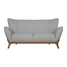 Mason And Pearl Wesley Scandinavian Sofa Light Grey 2 Seater Sofas