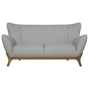 Wesley Scandinavian Sofa, Light Grey, 2-Seater