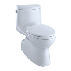 Toto Carlyle Elongated 1-Piece Toilet, Cotton White, MS614114CEFG#01
