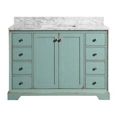 "Sherwood Duck Egg Blue Bathroom Vanity With Sink, 48"""