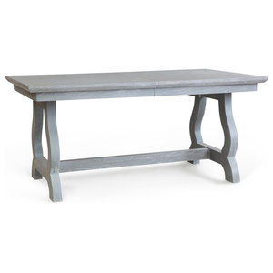 Counter Height Dining Table Distressed Anvil Black