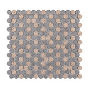 SomerTile Penny Porcelain Mosaic Floor and Wall Tile, Cookies and Cream