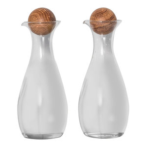 Oil and Vinegar Set With Oak Stoppers