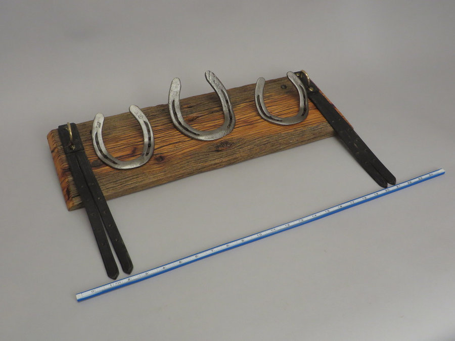 #R15082 Reclaimed Lumber, Horse Shoes, Tack Leather