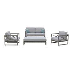 OVE Decors Galia 4-Piece Grey Outdoor Conversation Set