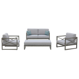 Transitional Outdoor Lounge Sets by OVE Decors