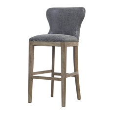 Dorsey Bar Stool Nubuck Charcoal