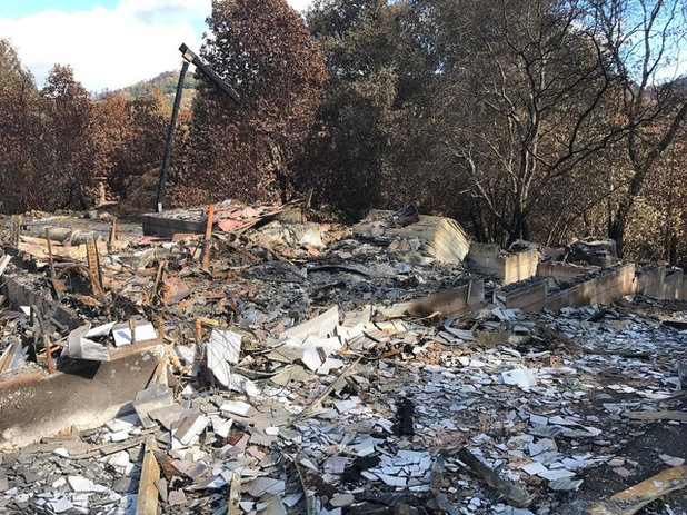 Tubbs Fire damage