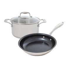 Tuxton Home Concentrix Cookset, Stainless Steel, Concentrix, 3 Piece Set