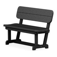 "Polywood Park 48"" Bench, Black"