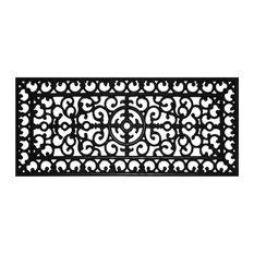 Fleur De Lis Rubber Doormat 1'5x3'5