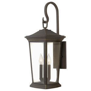 Hinkley Bromley Outdoor Extra Large Wall Mount Lantern, Oil Rubbed Bronze