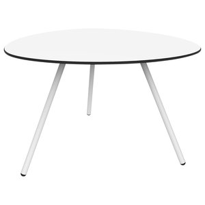 Big Dine A-Lowha Dining Table, White, White Frame
