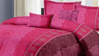 Damask Design Pink Pure Cotton Bedsheet