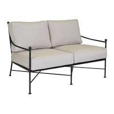 Sunset West Provence Loveseat With Cushions, Canvas Flax