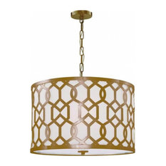 Crystorama Libby Langdon for Jennings 5 Light Chandelier, Aged Brass