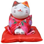 Blancho Bedding - Japanese Style Lucky Cat Figurine Lucky Fortune Cat, 23 - Ships from Hong Kong. Creative and unique gift idea for for Business Opening, Feng Shui Decor Attract Wealth and Good Luck. NOTE: Because of different factory production batch, the color and pattern may be slightly different from the picture, Hope get your kindly understanding. Small size, Height: approx. 7 cm/2.76 inches, width: approx. 6 cm/2.4 inches Material: plaster + cloth Japanese style fortune lucky cat, symbol of good luck Creative and unique gift idea for Business Opening,Feng Shui Decor Attract Wealth and Good Luck Display it in Your Home to welcome wealth