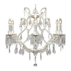 the gallery swag plug in white wrought iron crystal chandelier chandeliers