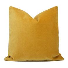 Saffron Velvet Pillow Cover
