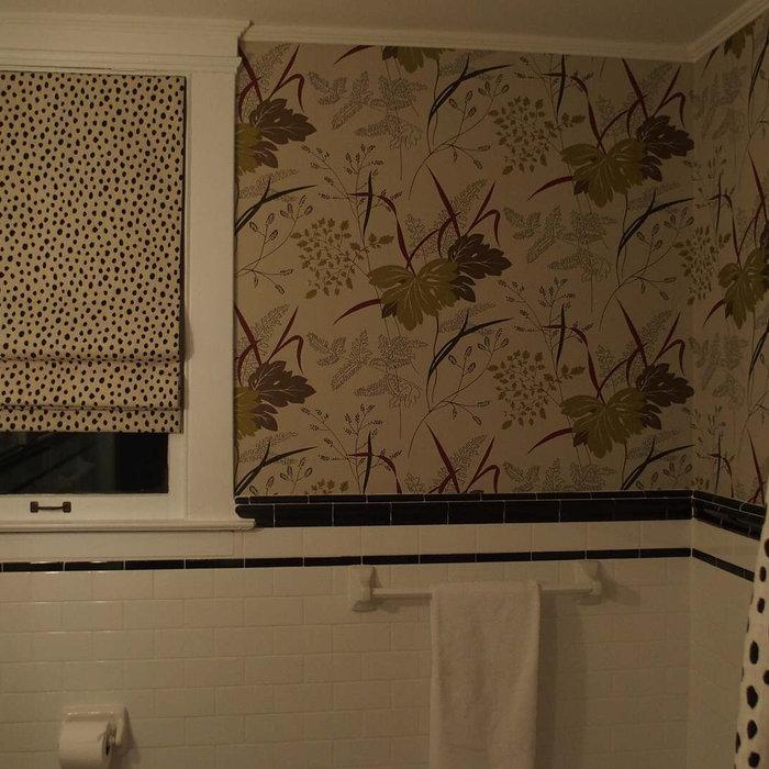 Leopard Print Roman Shade for Bathroom